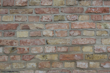 aged red brick wall texture background
