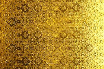 Shiny yellow gold Stained glass texture background