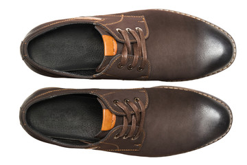 Male shoes. top view
