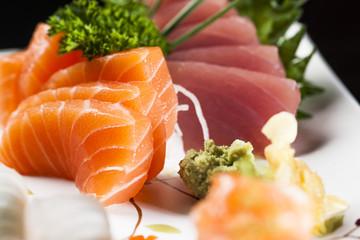 Sashimi de Atum, Salmão e Peixe Branco