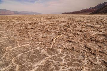 Salzfelder in der Wüste