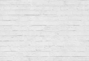 Seamless white brick wall pattern texture background