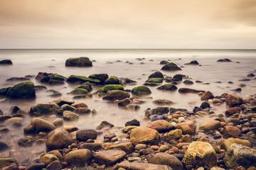 Rocky shore.