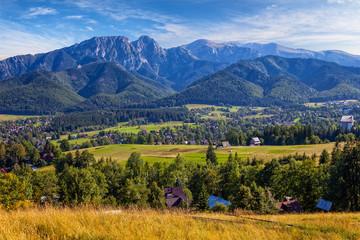 View from Gubalowka on the Tatra Mountains, Poland.