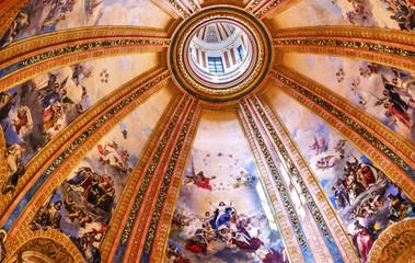 Dome Frescoes San Francisco el Grande Basilica Madrid Spain