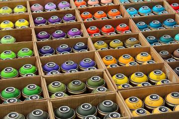 Bombes de peinture pour graffeur