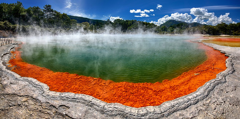 Thermal lake Champagne Pool at Waiotapu - New Zealand