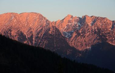 Grimming im Abendlicht, Steiermark, Österreich