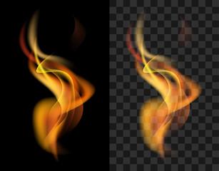 fire transparent translucent flame torch