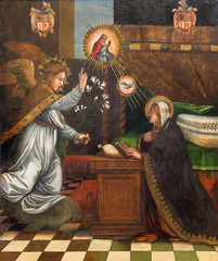 Granada - painting of Annunciation in Monasterio de la Cartuja