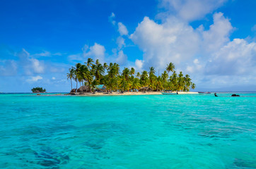 Tropical Island - Relaxing at beautiful beach with clear turquoise water