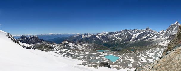 Panorama della Valtournenche, Cervino, Cime Bianche Laghi, Dent d'Herens e Grand Tournalin