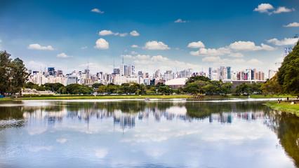 Sao Paulo skyline from Ibirapuera Park