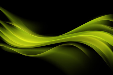 Green Modern Abstract Waves Background