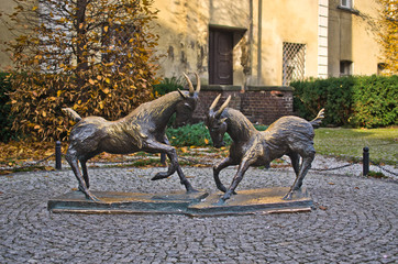 Goats - the symbol of Poznan, Poland