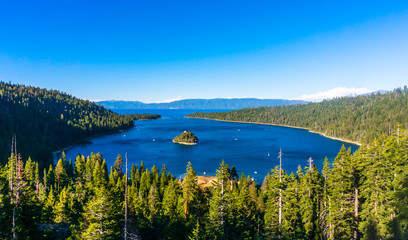 Amazing view of Emerald Bay, Lake Tahoe, California.
