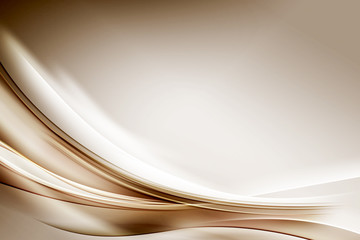 Abstract Gold Waves Composition