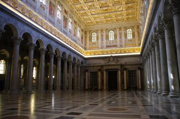 Church San Paolo Fuori le Mura, interior, Rome, Italy