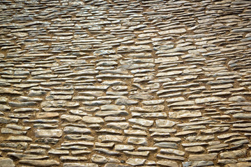 Mediterranean style stone pavement architecture