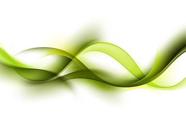 abstract green wave background