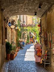 Small streets in Orvieto in Umbria