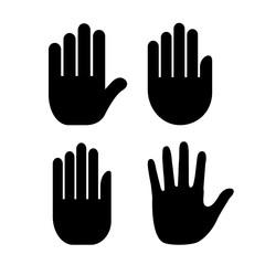 Human hand palm icon