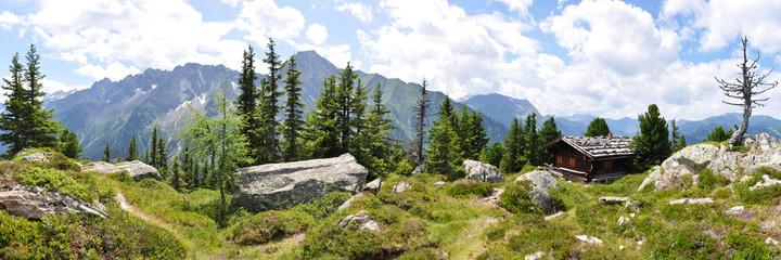 Panoramafoto Zillertaler Alpen / Österreich