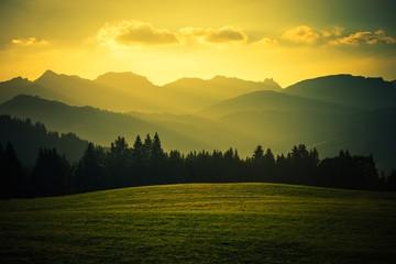 Malowniczy górski krajobraz