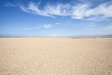 California Desert Dry Lake