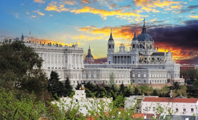 Madrid,  Almudena Cathedral and Royal Palace - Spain