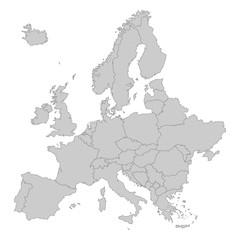 Europa in grau - Vektor