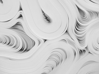 Folded reams of white paper