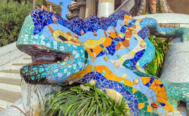 Mosaic sculpture Barcelona Gaudi