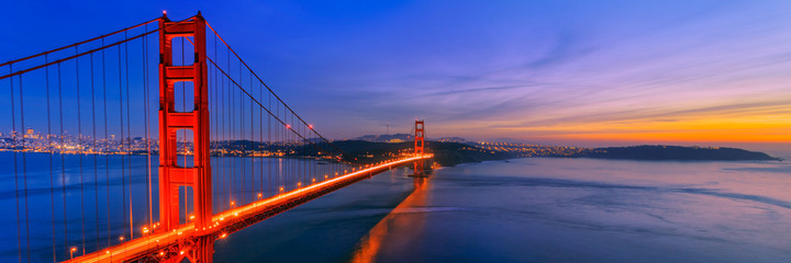 Most Golden Gate w San Francisco w Kalifornii