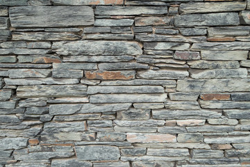 Background texture of a slate stone wall.