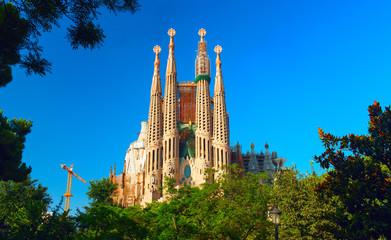 Sagrada Familia - the impressive cathedral designed by Antonio Gaudi