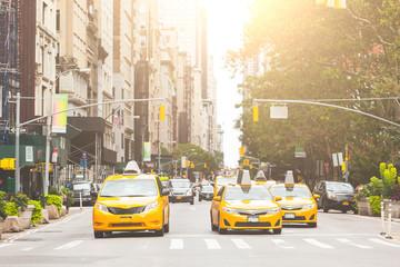 Typowy żółty taxi w Nowym Jorku