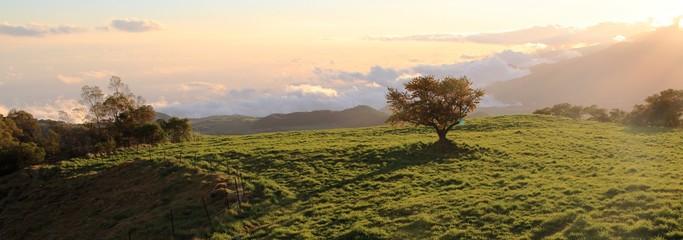 fin de journée à Bourg Murat, île de la Réunion