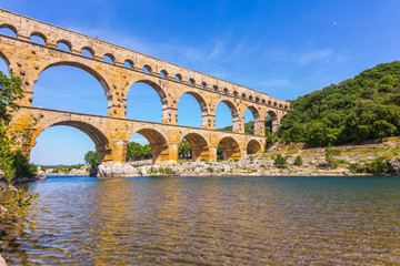 Three-tiered aqueduct Pont du Gard