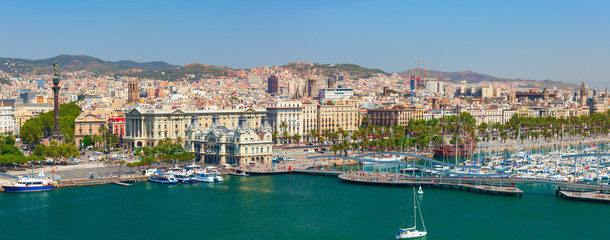 The Port of Barcelona has a 2000-year history and great contemporary commercial importance as one of Europe's ports in Mediterranean, and Catalonia's largest port