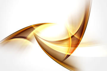 Fractal Gold Abstract Design