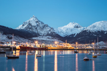 Ushuaia at night, Tierra del Fuego, Argentino