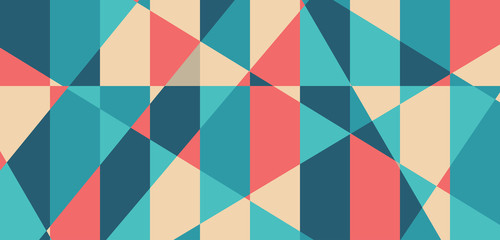 Abstract geometric shape vector pattern