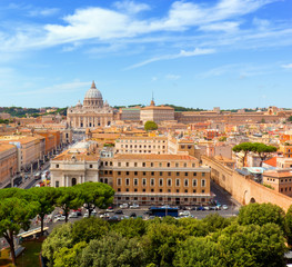 Vatican City. St. Peter's Basilica and Vatican museums.