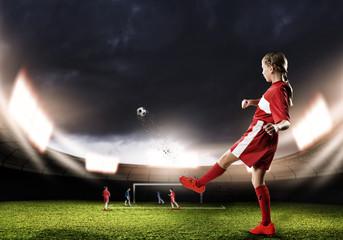 Football female player