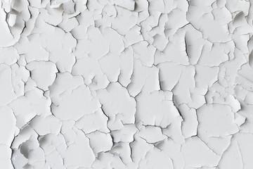 Krakingowa płatkowata biała farba, tło tekstura