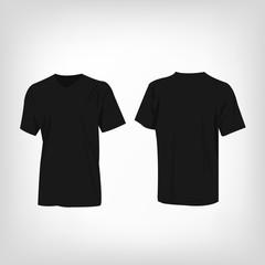 Black t-shirt vector set