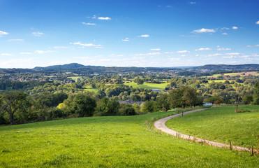 Saarland –Landschaft bei Sankt Wendel mit Blick Richtung Schaumberg – St. Wendeler Land Natur