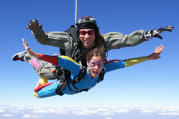 Skydiving Tandem Happy