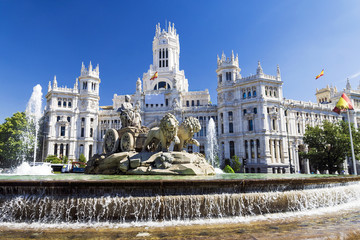 Cibeles Fountain - a fountain in the square of the same name in